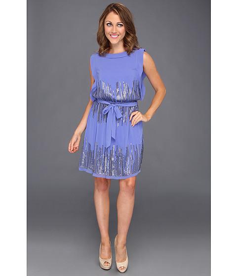 Rochii Vince Camuto - Chiffon Sequin Dress - Blue