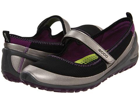 Adidasi ECCO - BIOM Lite Mary Jane - Silver Metallic/Black/Imperial Purple