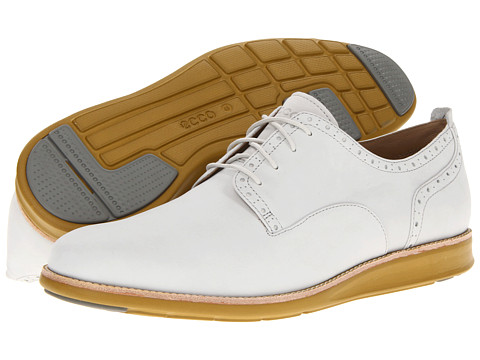 Pantofi ECCO - Clayton Plain Toe Tie - Shadow White Starbuck