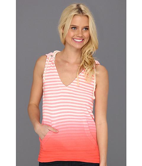 Bluze Roxy - Tropical Beat Hoodie - Neon Coral Stripe