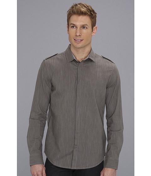 Tricouri Calvin Klein - Veil Stripe LS Woven - Platinum