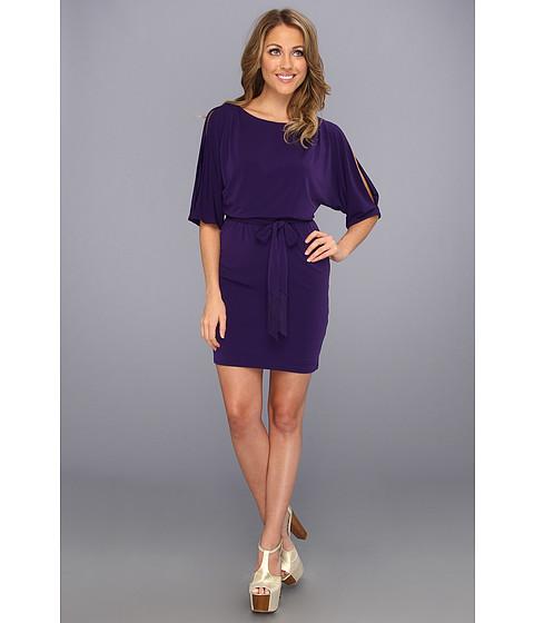 Rochii Jessica Simpson - Pleated Boat Neck Dress JS3A3595 - Parachute Purple