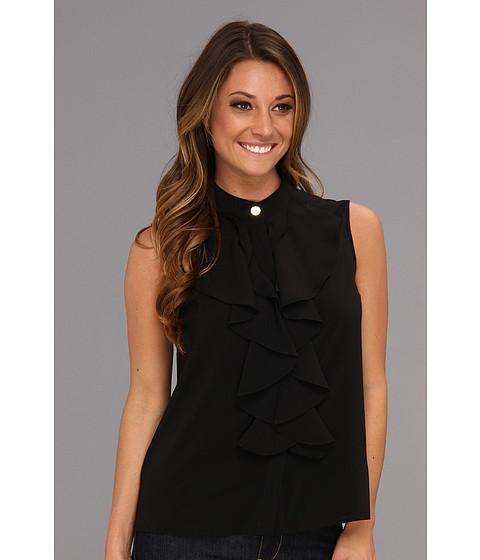 Tricouri Calvin Klein - Drape Front Button Cami - Black