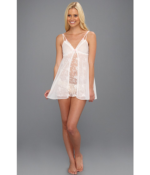 Lenjerie Betsey Johnson - All Over Lace and Tricot Slip - Pearl