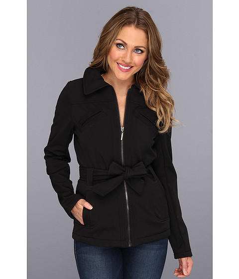 Geci dollhouse - Belted Zipper Front Jacket with 6-Pocket Detail - Black
