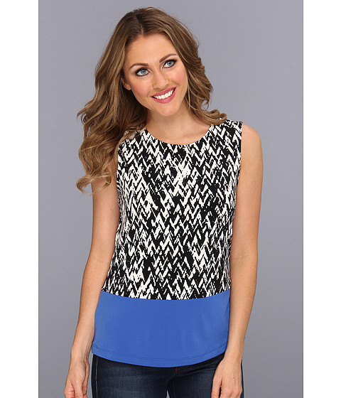 Tricouri Calvin Klein - Color Block Peplum - Eggshell Multi