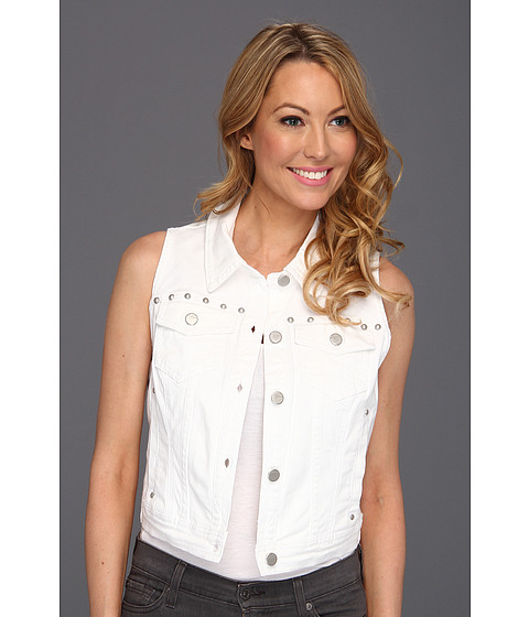 Sacouri DKNY - Studded Denim Vest - White