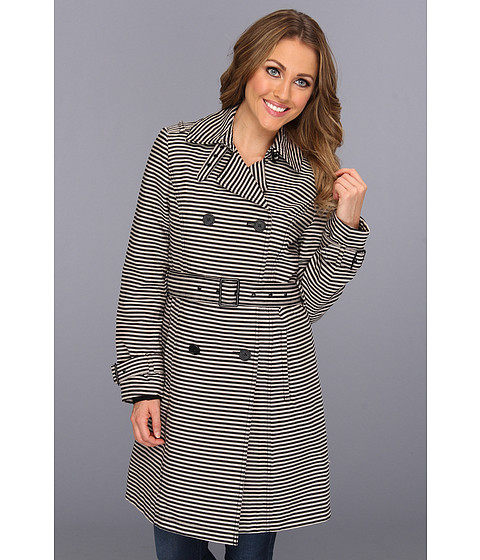 Jachete Kenneth Cole - Double Breasted Belted Novelty Trench - Black