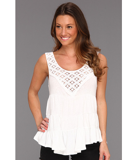 Tricouri Free People - Dorothy\s Babydoll Top - Alabaster