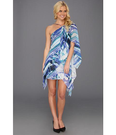 Rochii BCBGMAXAZRIA - Gigi Layered Halter Dress - Dark Ash Blue