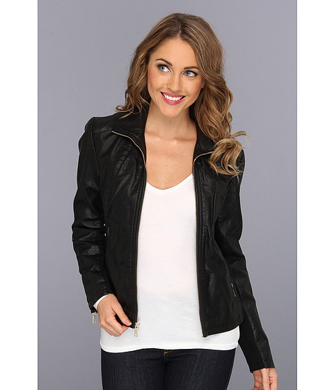 Jachete Kenneth Cole - Zip Front Scuba Jacket - Black