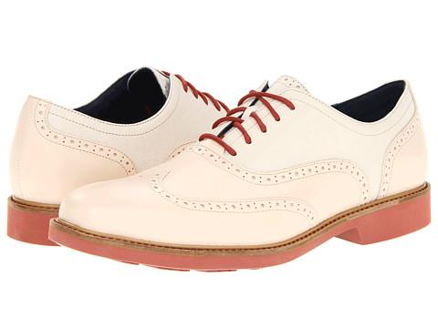 Pantofi Cole Haan - Great Jones Wingtip - Ivory/Ivory Grain/Brick
