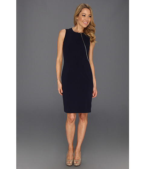 Rochii Calvin Klein - Lux Sheath w/ Zipper Detail - Navy