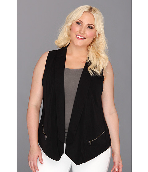 Tricouri DKNY - Plus Size Mix Media Vest - Noir