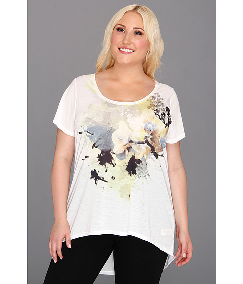 Tricouri DKNY - Plus Size Orchid Print Top - Sunbeam