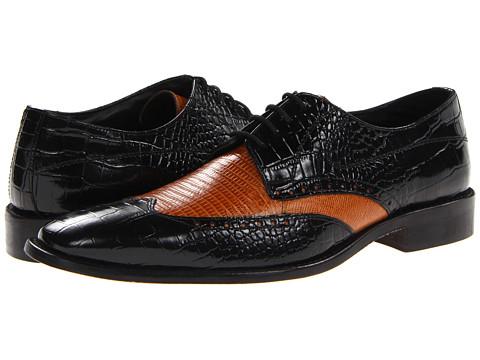 Pantofi Stacy Adams - Amato - Black & Butterscotch Croco & Lizard Print Leather