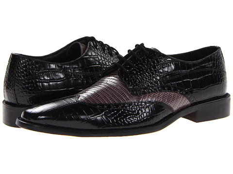 Pantofi Stacy Adams - Amato - Black & Gray Croco & Lizard Print Leather
