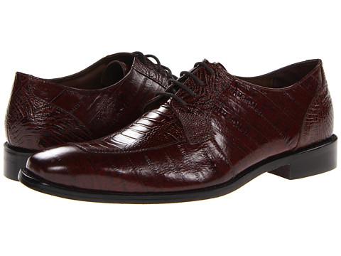 Pantofi Stacy Adams - Pisa - Mocha Eelskin & Ostrich Leg Print Leather