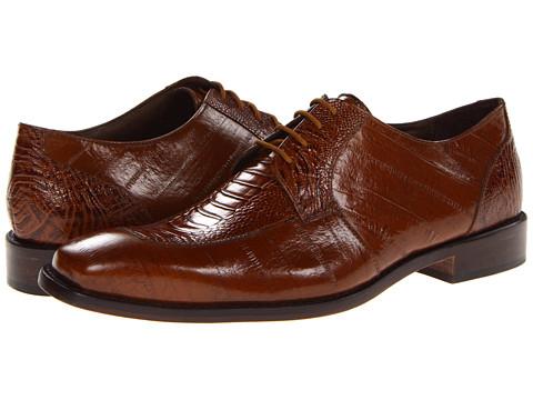 Pantofi Stacy Adams - Pisa - Mustard Eelskin & Ostrich Leg Print Leather