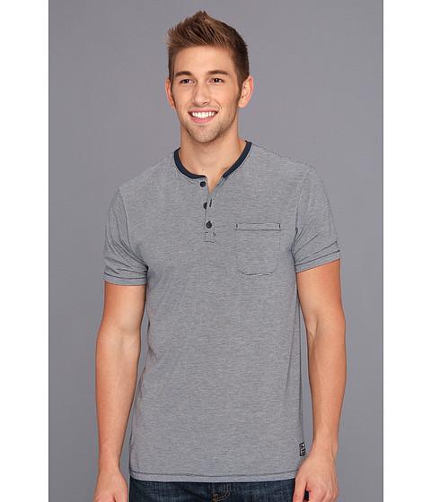 Tricouri Nike - Dri-Fit Blend Yarn-Dye Striped S/S Henley - Armory Navy