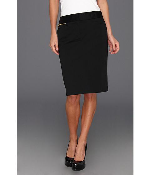 "Fuste Jones New York - Casual Pencil Skirt 22 1/2\"" - Black"