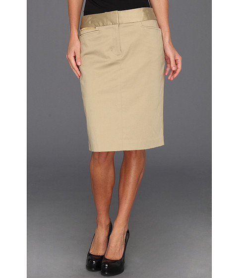 "Fuste Jones New York - Casual Pencil Skirt 22 1/2\"" - Toast"