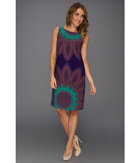 Rochii Nine West - Intricate Medallion Dress - Green Combo