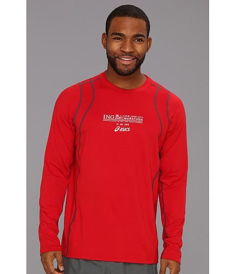 Bluze ASICS - Marathon Thermopolis Long Sleeve Performance Crew - Brick/Iron