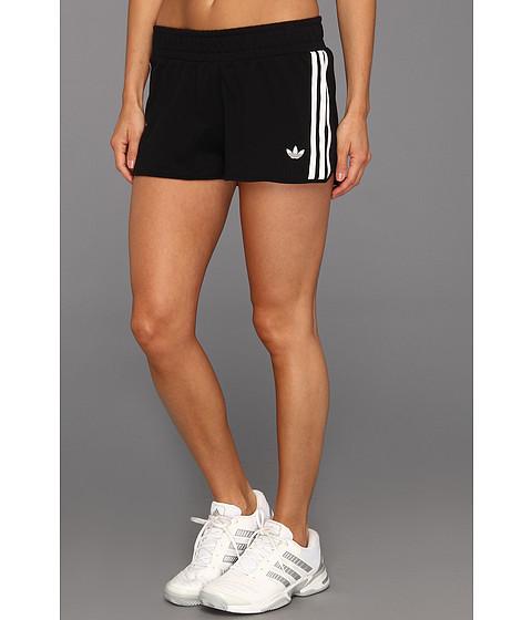 Pantaloni Adidas Originals - 3-Stripes French Terry Short - Black/White