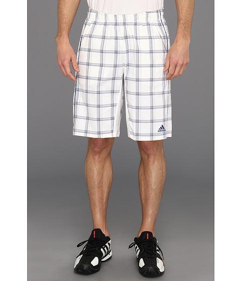 Pantaloni adidas - Tennis Sequencials Plaid Bermuda - White/Dark Blue