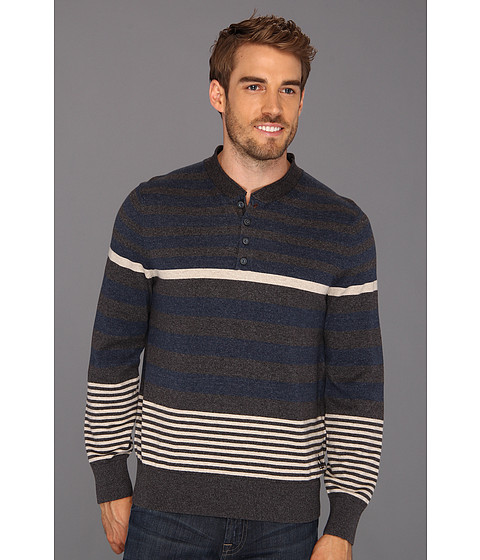 Bluze Nautica - Engineered Stripe Henley - True Black