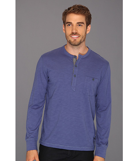Bluze Nautica - L/S Solid Pocket Henley - Union Heather