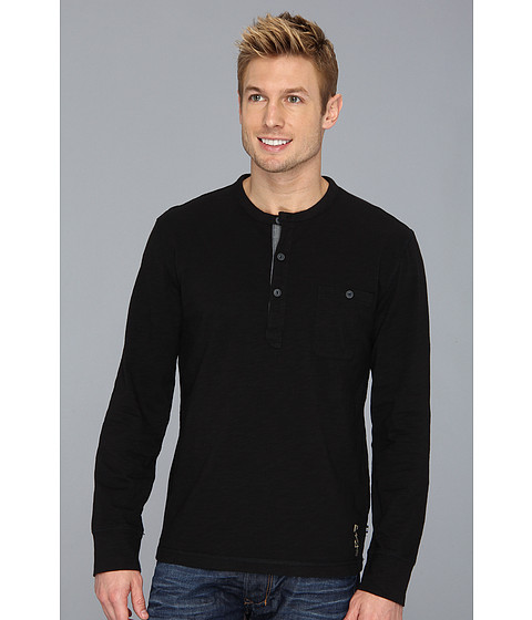 Bluze Nautica - L/S Solid Pocket Henley - True Black