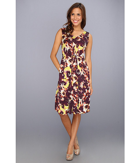 Rochii Jones New York - Burst Pleated Dress - Concord Multi