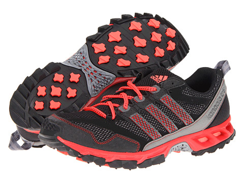 Adidasi Adidas Running - Kanadia 5 TR - Black/Neo Iron Metallic/Light Scarlet