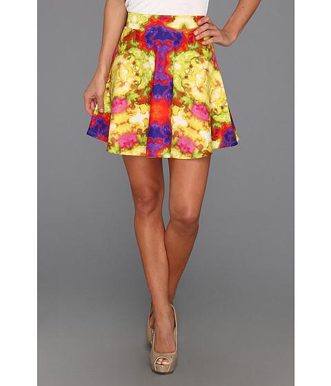 Fuste Type Z - Pauline Watercolor Flare Skirt - Yellow