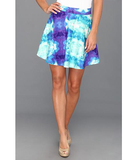 Fuste Type Z - Pauline Watercolor Flare Skirt - Blue