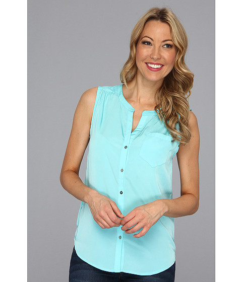 Bluze Kenneth Cole - Jolie Sleeveless Button-Front Top - Cyan Pool