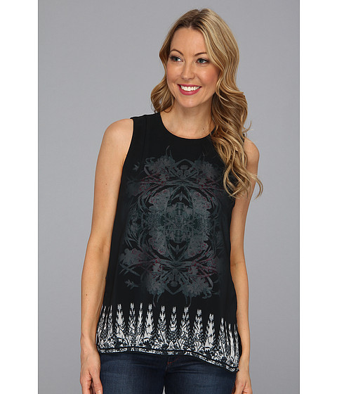 Bluze Kenneth Cole - Mel Sleeveless Printed Top - Black Combo