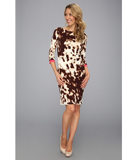 Rochii Jessica Howard - Printed Side Roush Dress - Animal
