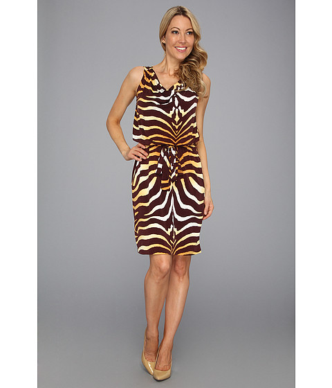 Rochii Jones New York - Twist Wrap Dress - Honeybee Combo