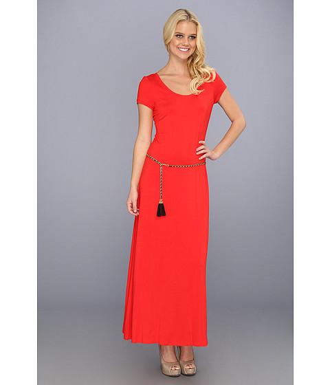 Rochii Calvin Klein - Solid T-Shirt Maxi - Tango Red