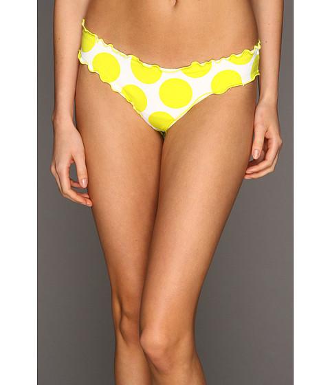 Costume de baie Vitamin A Silver Swimwear - Rio Ruffle Scoop Bikini Bottom - Lemon Drops