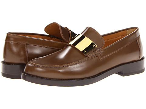 Pantofi Marc Jacobs - Loafer with Gold Plaque - Brown