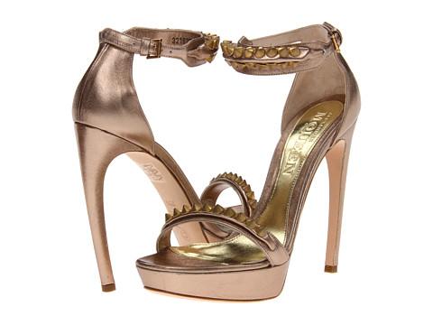 Pantofi Alexander McQueen - Sandal Pelle - Smooth Metallic - Pink/Silver/Beige