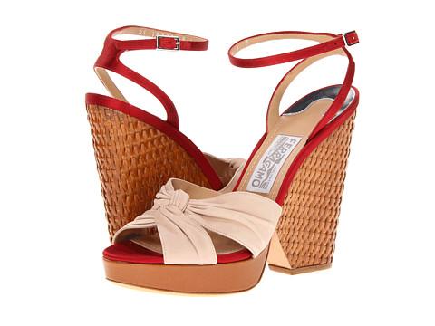 Pantofi Salvatore Ferragamo - Suna - Almond/Rosso