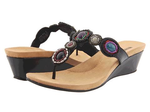 Sandale Minnetonka - Uptown Thong - Black Leather