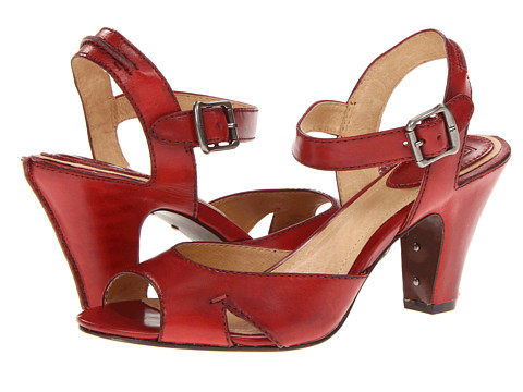 Pantofi Frye - Skyler Seam - Burnt Red Smooth Full Grain