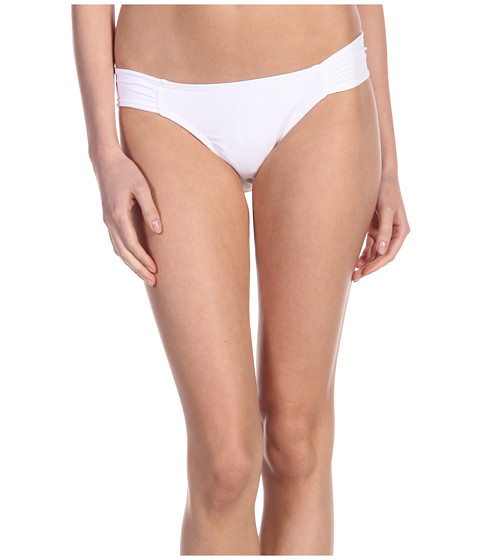 Costume de baie L*Space - Sensual Solids Foxy Tab Classic Cut Bottom - White