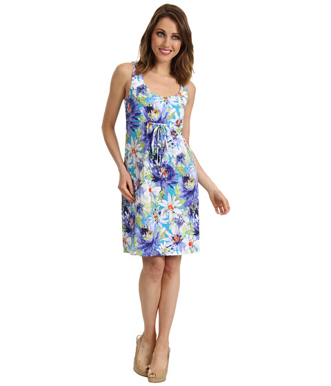 Rochii Tommy Bahama - Brasilia Petals Dress - Teal Tone